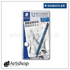 德國 STAEDTLER 施德樓 100 頂級藍桿繪圖素描鉛筆 (12支組)