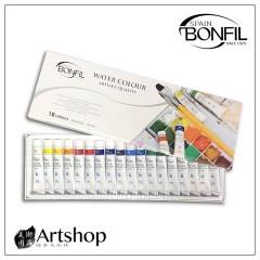 西班牙 BONFIL 透明水彩顏料 18色 12ml BW1218