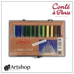 法國 Conte 康緹 方形粉彩條 色粉條 (12色) 風景型