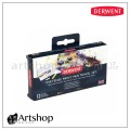 英國 Derwent 德爾文 水墨色鉛塊狀水彩12色旅行盒裝 2302636