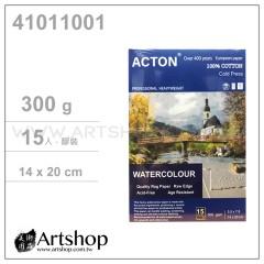 ACTON 雅頓 100%棉 水彩本 300g (14×20cm) 冷壓 15入