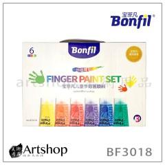 西班牙 BONFIL 手指彩繪顏料 50ml*6 BF3018