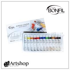 西班牙BONFIL壓克力顏料12cc(12色)