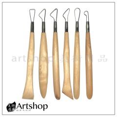 陶藝工具 雕刻用具 (6支入) C-30B