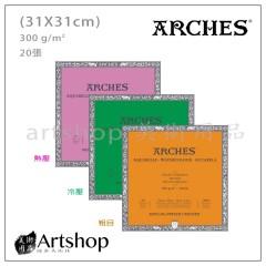 ARCHES 水彩本 300g (31x31cm 20入) 3款可選