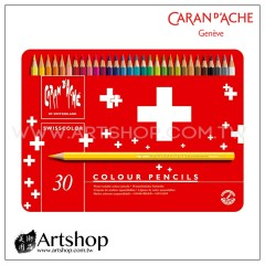 瑞士 CARAN D'ACHE 卡達 SWISSCOLOR 水性色鉛筆 (30色) 紅盒
