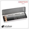 瑞士 CARAN D'ACHE 卡達 GRAPHITE 專家級素描鉛筆 (6入) 鐵盒