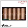 瑞士 CARAN D'ACHE 卡達 LUMINANCE 6901 極致專家級油性色鉛筆 (76+8色) 木盒