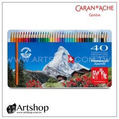 瑞士 CARAN D'ACHE 卡達 PRISMALO 高級水性色鉛筆 (40色) 藍盒