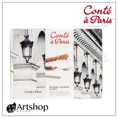 法國 Conte 康緹 素描炭精套裝組 鐵盒 (2185)