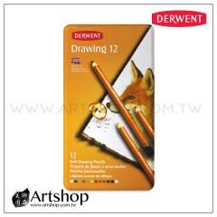 英國 Derwent 德爾文 Soft Drawing 炭精色鉛筆 (12色) 0700671