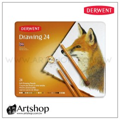 英國 Derwent 德爾文 Soft Drawing 炭精色鉛筆 (24色) 0700672