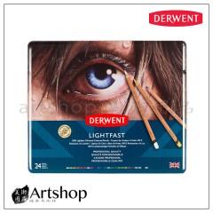 英國 Derwent 德爾文 LIGHTFAST 油性色鉛筆 (24色) 2302720