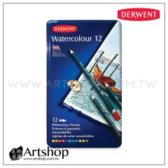 英國 Derwent 德爾文 Watercolour 水性色鉛筆 (12色) 32881