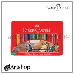 德國 FABER 輝柏 經典油性色鉛筆 (48色) 紅盒