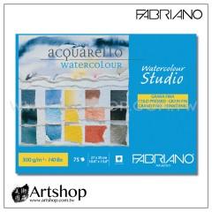 義大利 FABRIANO BL Studio 冷壓水彩本 300g (27x35cm) 膠裝 75入 #75302735