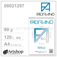 義大利 FABRIANO Schizzi 白素描本 90g (A4) 圈裝 120入 #08021297