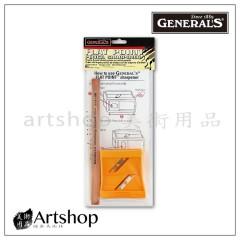 美國 GENERAL 將軍牌 扁筆削筆器 (付將軍牌扁筆1支) S-6000