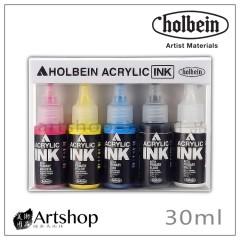 日本 HOLBEIN 好賓  液態壓克力墨水 30ml 5色入