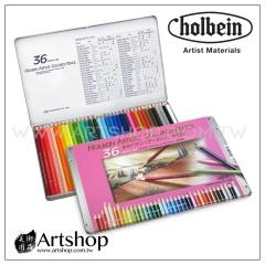 日本 HOLBEIN 好賓 專家級油性色鉛筆 (36色) 鐵盒 OP930