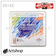 捷克 KOH-I-NOOR 3444 原木桿 細軸 魔術色鉛筆 (23+1色) 鐵盒