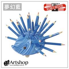 捷克 KOH-I-NOOR 9960 原木小刺蝟造型 彩色鉛筆組 (夢幻藍)