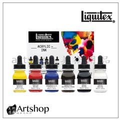 美國 Liquitex 麗可得 專家級彩色墨水 30ml 6入【缺貨】