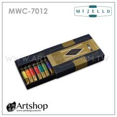 韓國 MIJELLO 美捷樂 MISSION 藝術家金級水彩 7ml (12色) MWC-7012 + 保濕調色盤