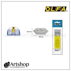 日本 OLFA 45度角斜口刀刀片 MCB-1 (5片裝) MC-45-2B補充刀片