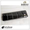 荷蘭 REMBRANDT 林布蘭 塊狀水彩專用金屬調色盤 / 空鐵盒 (24格)