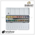 荷蘭 REMBRANDT 林布蘭 專家級塊狀水彩 (24色) 鐵盒裝