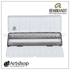 荷蘭 REMBRANDT 林布蘭 塊狀水彩專用金屬調色盤 / 空鐵盒 (24格)【缺貨】
