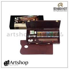 荷蘭 REMBRANDT 林布蘭 16色基本油畫木盒組(01840004)