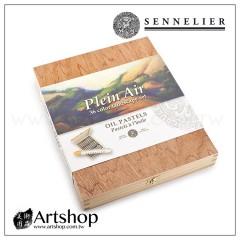 法國 SENNELIER 申內利爾 專家級手工油性粉彩 (36色風景) 木盒 #132518.SF