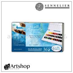 法國 SENNELIER 申內利爾 學生級 塊狀水彩寫生調色盤 36色半塊 331628.01