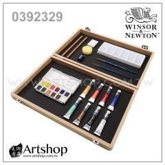 英國 WINSOR&NEWTON 溫莎牛頓 Cotman 塊狀水彩 (12+8色) 木盒套裝 0392329