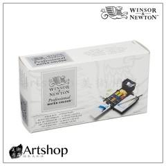 英國 溫莎牛頓 Professional 專家級塊狀水彩「12色 藍盒」#0190685