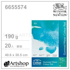 英國 WINSOR&NEWTON 溫莎牛頓 冷壓水彩本 190g (40.6x30.5cm) 膠裝20入 #6655574