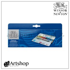 英國 WINSOR&NEWTON 溫莎牛頓 學生級塊狀水彩 (24色) 藍鐵盒