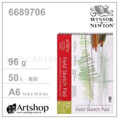 英國 WINSOR&NEWTON 溫莎牛頓 MEDIUM 素描本 96g (A6) 圈裝50入 #6689706