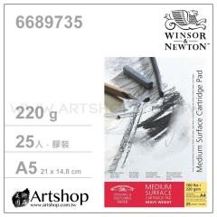 英國 WINSOR&NEWTON 溫莎牛頓 MEDIUM 素描本 220g (A5) 膠裝25入 #6689735