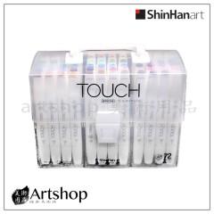 韓國 SHINHAN 新韓 Touch 酒精性雙頭軟毛麥克筆 (72色) PP手提盒裝